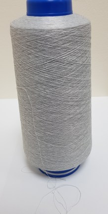 Spool of high quality Antistatic Polyester and Conductive Copper yarn available from SageZander