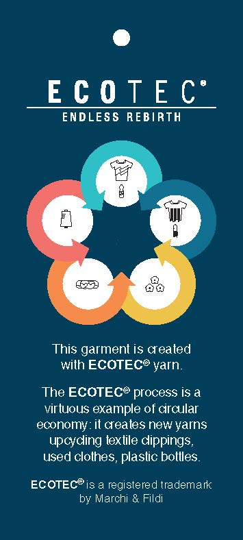 Pendaglio Ecotec brochure for garment rebirth processed yarns supplied by SageZander
