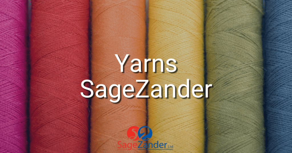 Yarns available from SageZander